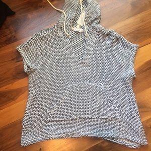 NWT Splendid Prairie Loose Knit Hooded Top Small